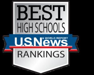 "US News silver shield ""Best High Schools Ranking"""