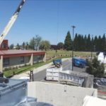 Crane and roofing materials
