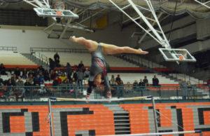 Alexa Dietz captured the 4A district gymnastics all-around championship for Camas Saturday, at Battle Ground High School. (Dan Trujillo/Post-Record)