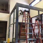 Vestibule under construction