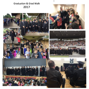 Collage of graduation images from Camas High School and Hayes Freedom High School