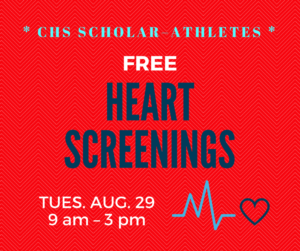 Graphic for heart screenings.