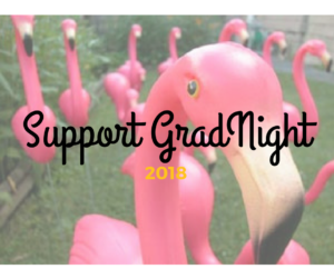 A flock of plastic pink flamingos stand in a yard