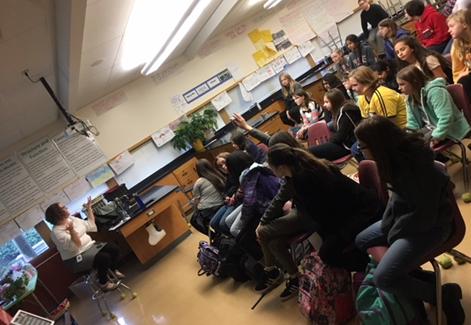 Whitney Henion speaks to Liberty MS students