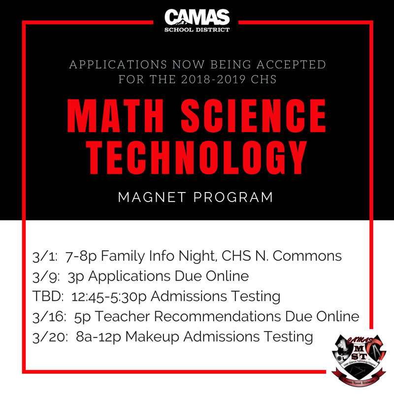 NOW ACCEPTING MATH-SCIENCE-TECHNOLOGY MAGNET PROGRAM APPLICATIONS ...