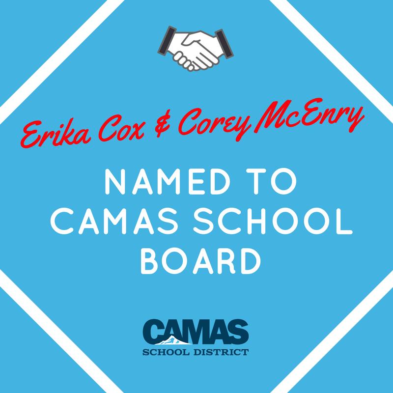 Erika Cox & Corey McEnry Named to Camas School Board